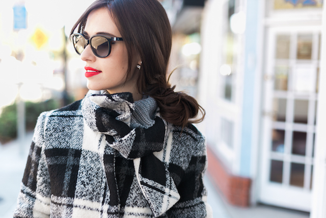 checkered plaid coat from anthropologie M Loves M @marmar