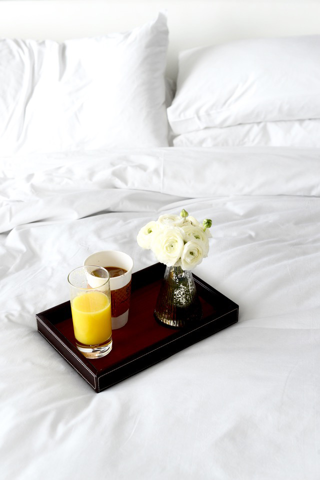 breakfast in bed at hyatt centric in south beach miami M Loves M