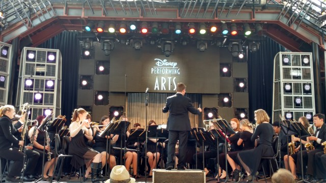 MTHS Concert Band performing at Disneyland, Apr. 2016