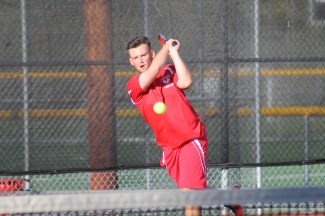 Senior Jeremy Andsell is one of three Mountlake Terrace Hawks still alive in the 2A District 1 Boys Tennis Tournament being contested in Mount Vernon and Bellingham.