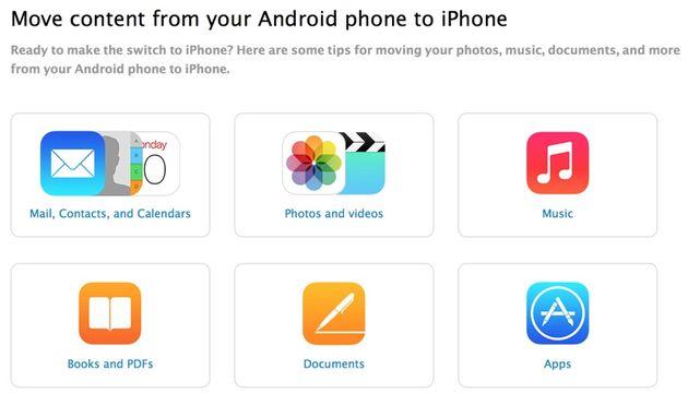 Apple lança documento detalhado para ensinar utilizadores Android a mudar para iOs