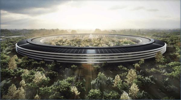 Drone filma o futuro Campus da Apple