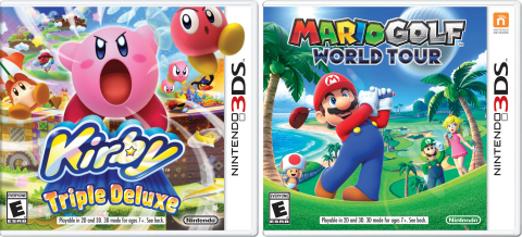 On May 2, the Mario Golf: World Tour and Kirby: Triple Deluxe games are launching in stores and in t ...