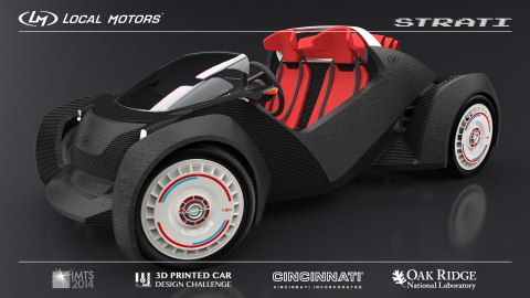 Winning design concept - Strati - from the Local Motors 3D Printed Car Design Challenge. Created by  ...