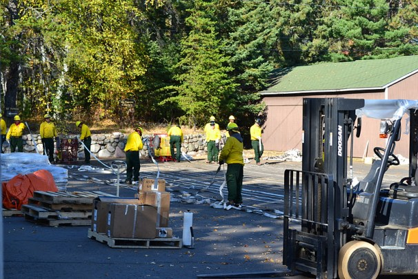 pagami Work center back haul rehabilitation site