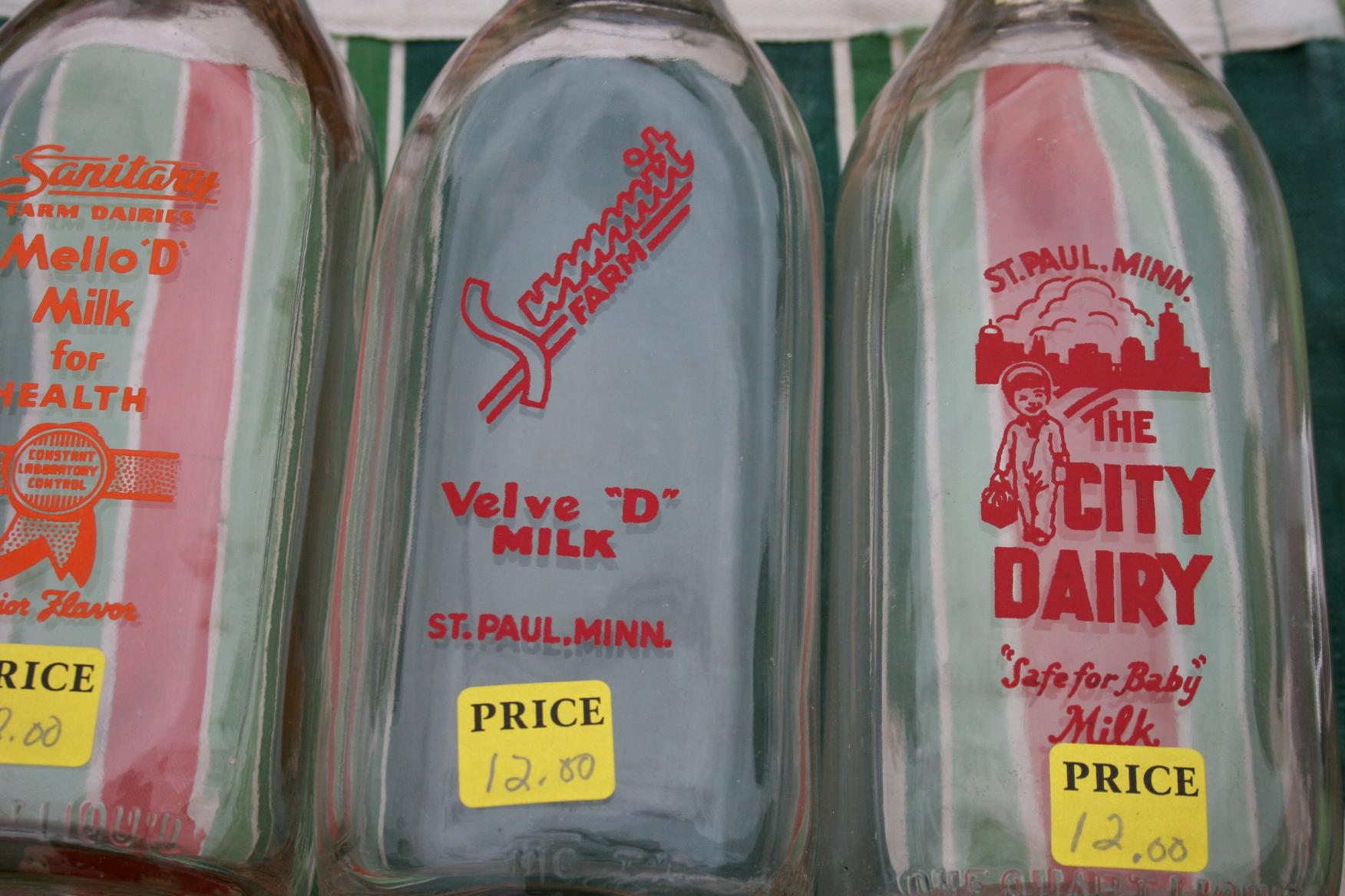 Fullsize Of Vintage Milk Bottles