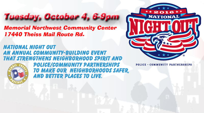 National Night Out – October 4th 6 – 9PM