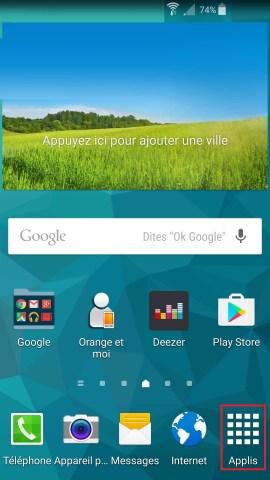 Échec réseau appel Samsung android 5-appli