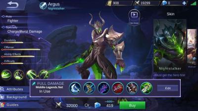 Argus Full Damage Build 2019 - Mobile Legends