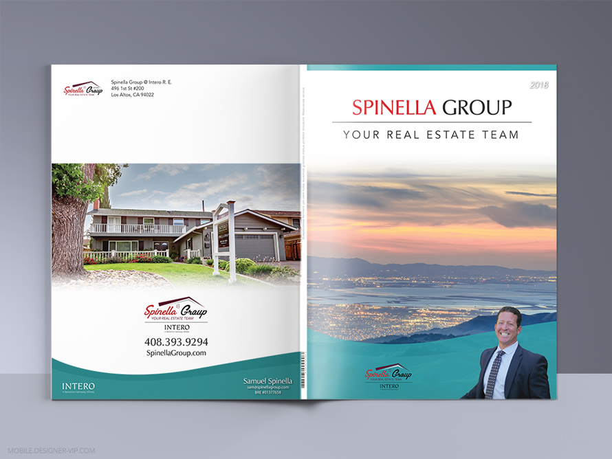 Real Estate brochure design Spinella Group   Real Estate brochure cover