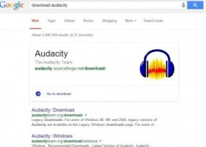 google-search-result-download-audacity