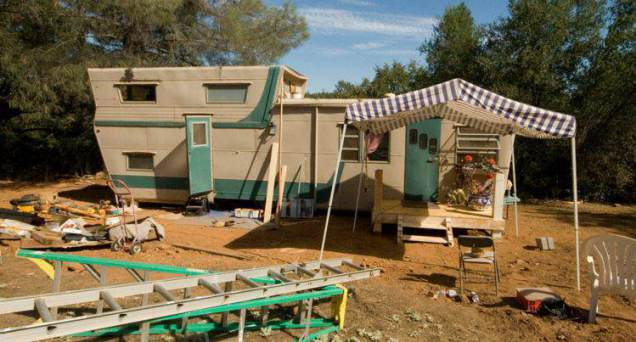 1954 pacemaker tri level mobile home remodel exterior