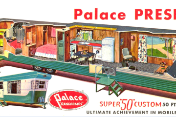 56-57 Palace mobile home floor plan