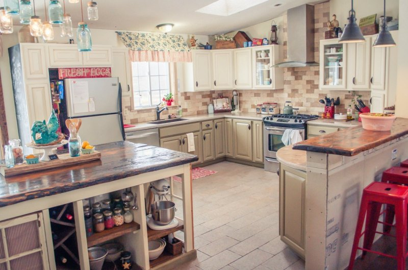 Large Of Country Home Kitchen Decor