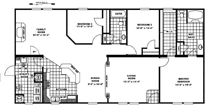 Double Wide Mobile Home Floor Plans On Double Wide Mobile Home Wiring