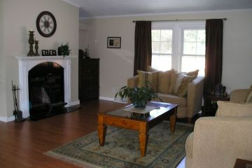 Double wide manufactured home living room after makeover - homesteading_