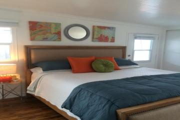 beach cottage decor in a mobile home