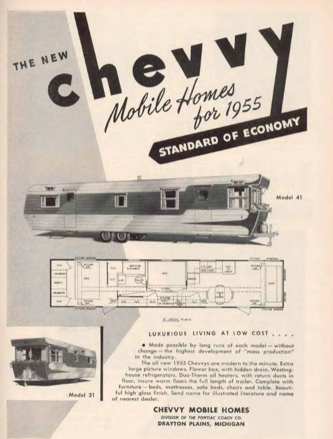 chevvy mobile home 1955