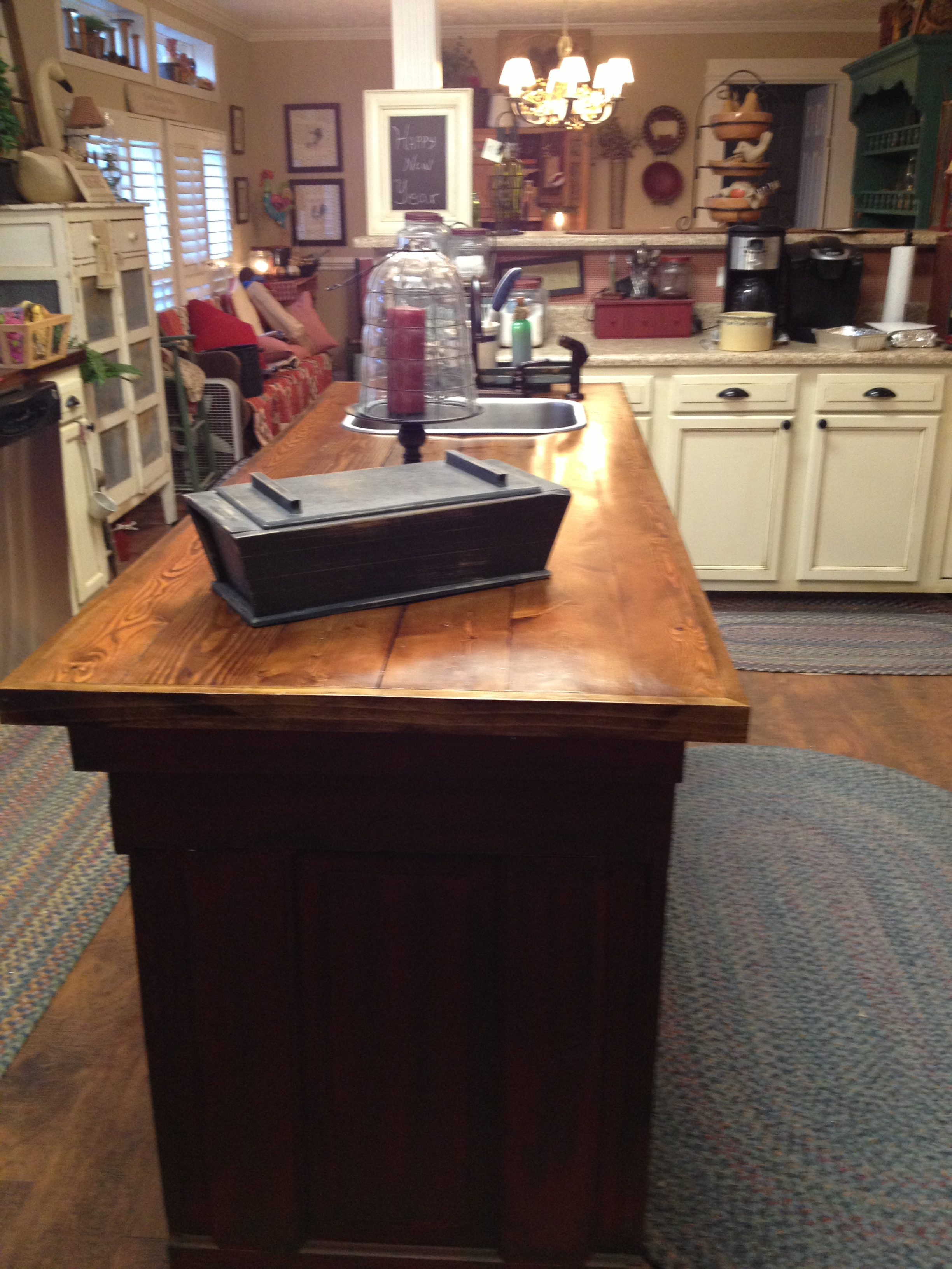 Old world manufactured home kitchen remodel for Double wide kitchen remodel