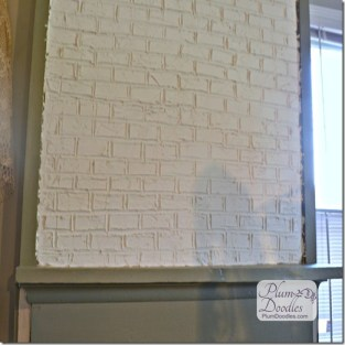 faux brick using drywall mud