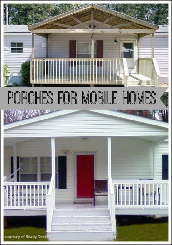 9 beautiful manufactured home porch ideas - Mobile homes designs homes ideas ...