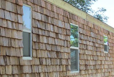 cedar and wood mobile home siding options