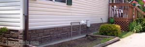 Mobile home skirting guide - Fake brick skirting ...