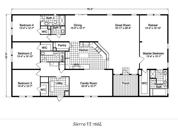 10 great manufactured home floor plans for Design my mobile home