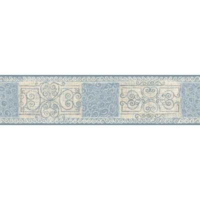 Shop allen + roth 5.13-in Blue Prepasted Wallpaper Border at Lowes.com
