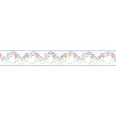 Shop Norwall 4.25-in Blue Prepasted Wallpaper Border at Lowes.com
