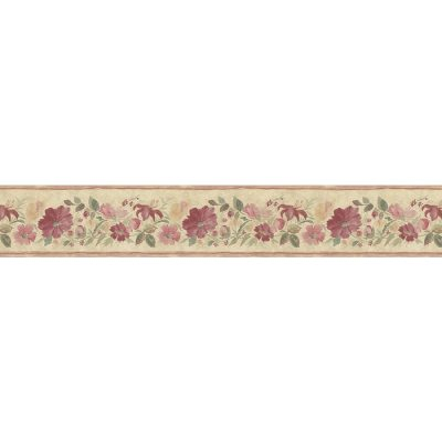 Shop Norwall 5.25-in Red Prepasted Wallpaper Border at Lowes.com
