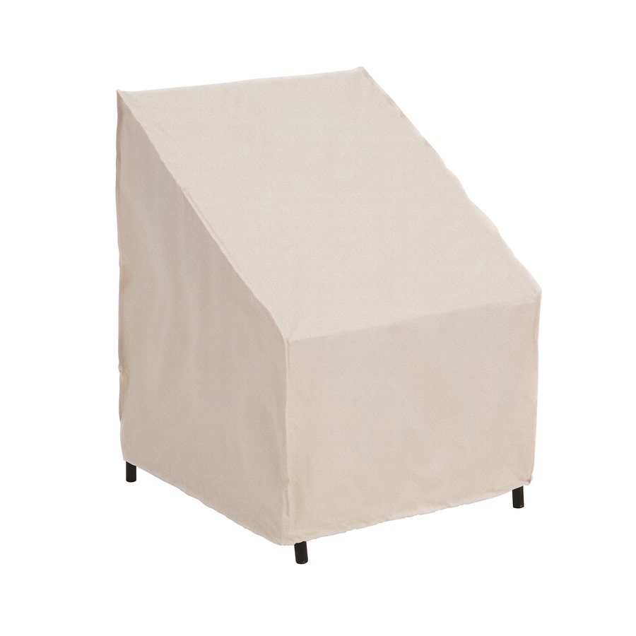 elemental tan polyester stacking chairs cover furniture covers for