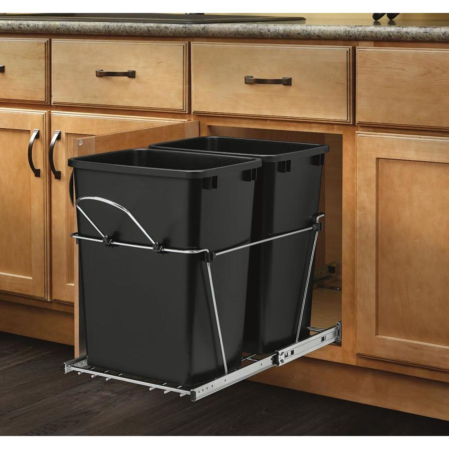 RevAShelf 35Quart Plastic Pull Out Trash Can Trash Can Cabinet Insert Loweu0027s18