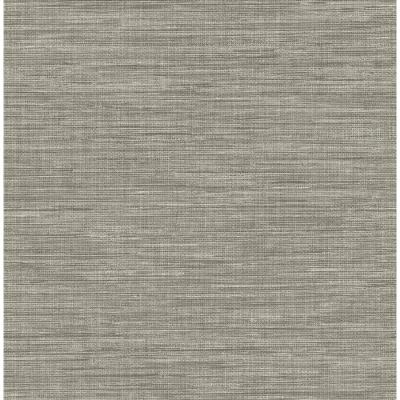 Brewster Wallcovering Solstice 56.4-sq ft Grey Non-Woven Grasscloth Wallpaper at Lowes.com