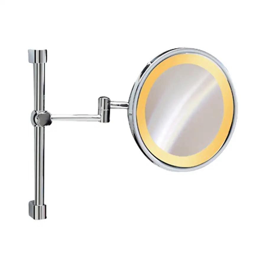 Grande Nameeks Windisch Chrome Brass Vanity Mirror Light Shop Nameeks Windisch Chrome Brass Vanity Mirror Wall Mounted Makeup Mirror Polished Nickel Wall Mounted Makeup Mirrors 10x Magnification houzz-03 Wall Mounted Makeup Mirror
