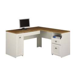 Sleek Hutch L Shaped Desk Glass Bush Furniture Fairview Transitional Desk Shop Bush Furniture Fairview Transitional L Shaped Desk