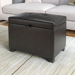 Small Of Leather Storage Ottoman