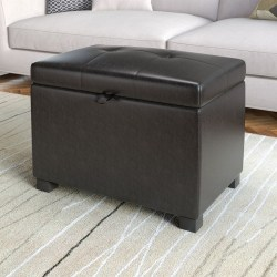Small Crop Of Leather Storage Ottoman