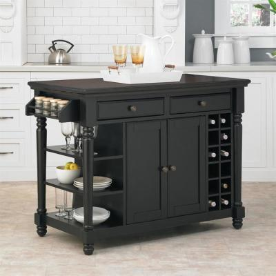 Shop Home Styles Black Casual Kitchen Island at Lowes.com