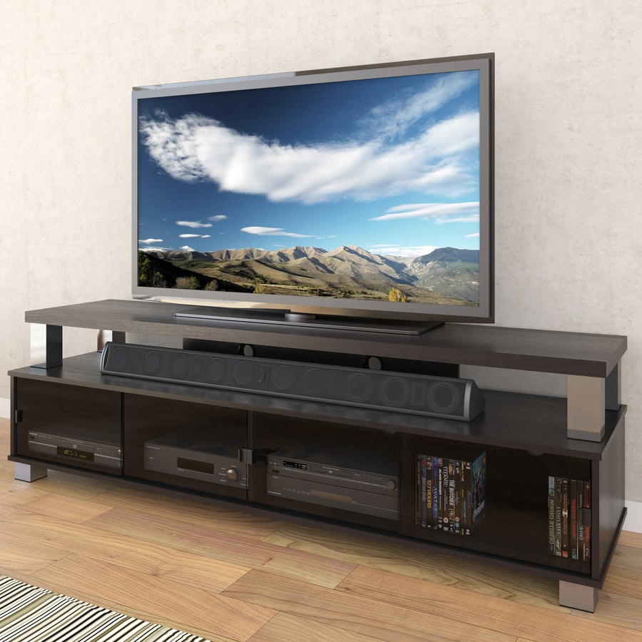 CorLiving Bromley Ravenwood Black TV Cabinet Tv Stand 80 Inches Wide R97