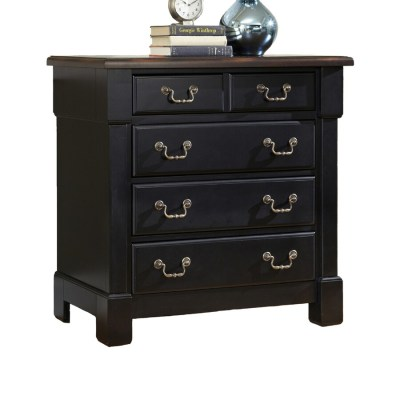 Shop Home Styles Aspen Black/Rustic Cherry Mahogany 4-Drawer Chest at Lowes.com