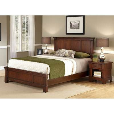 Home Styles Aspen Rustic Cherry King Bedroom Set at Lowes.com