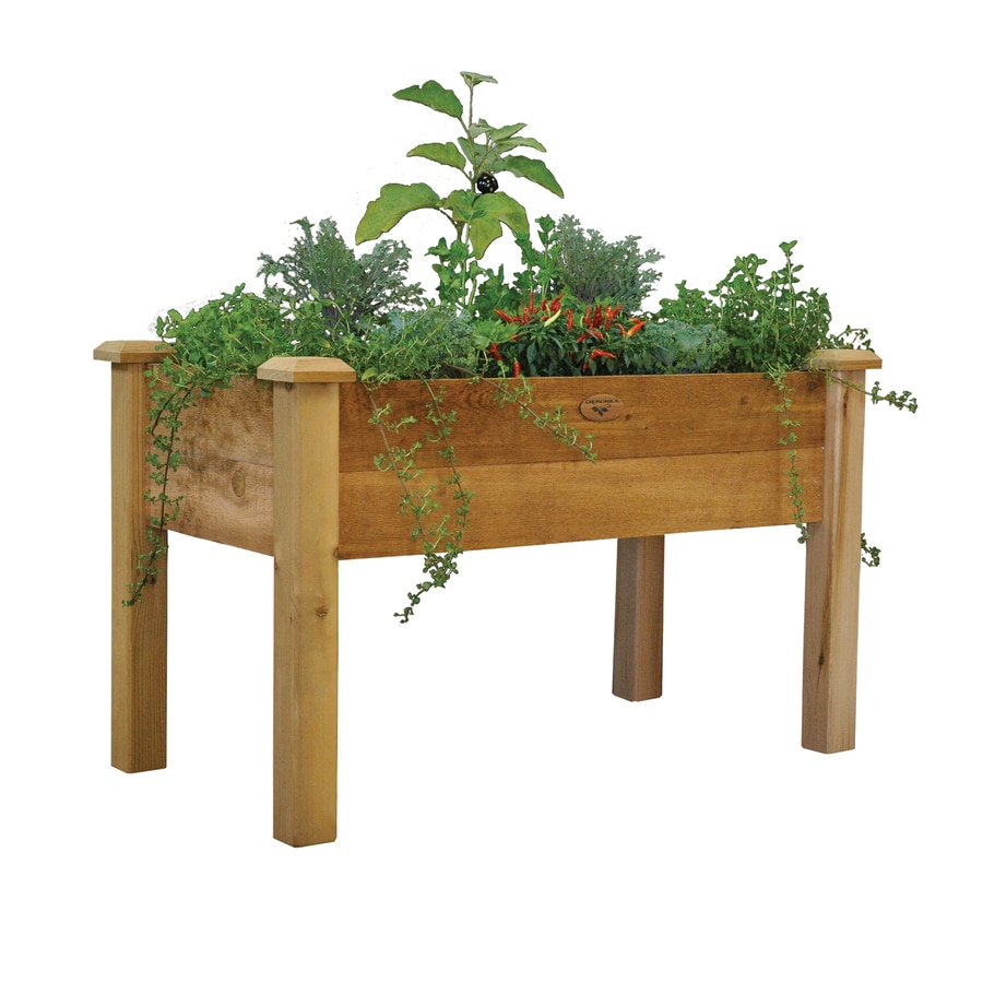 Imposing Gronomics W X H Rustic Red Rustic Cedar Raised Planter Shop Stands Window Boxes At Wooden Herb Garden Planters garden Wooden Herb Garden Planters
