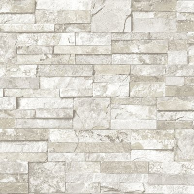 Shop allen + roth White and Gray Peelable Vinyl Prepasted Textured Wallpaper at Lowes.com