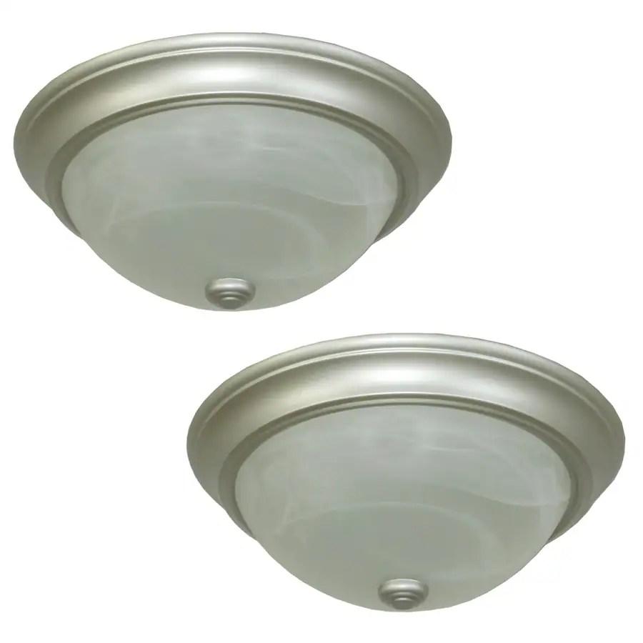 brushed nickel flush mount ceiling light soul speak designs kitchen flush mount lighting Shop Flush Mount Lights At Lowescom