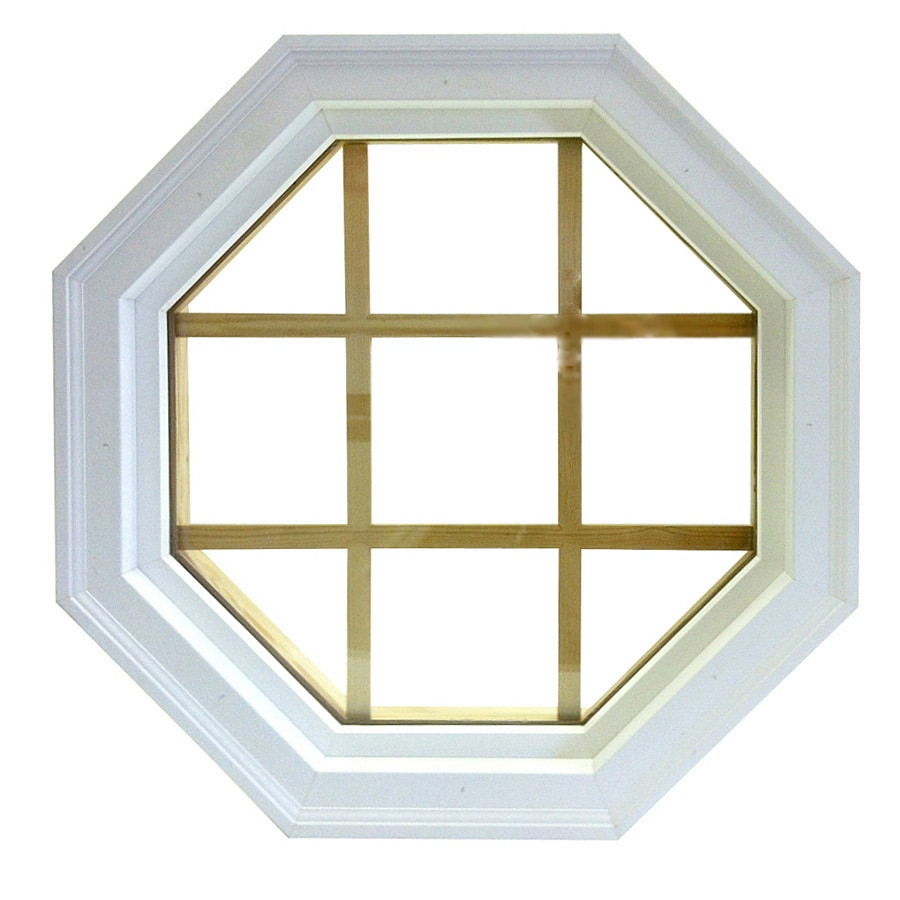 Loweu0027s AWSCO Octagon Replacement Paint Grade Vinyl Window Rough Opening 22in X  22