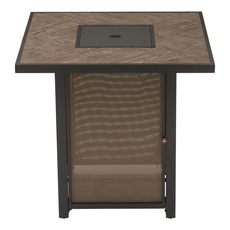 Graceful Allen Roth W Brown Table Steel Propane Gas Fire Shop Gas Fire Pits At Propane Fire Table Kit Propane Fire Table Lid houzz-03 Propane Fire Table