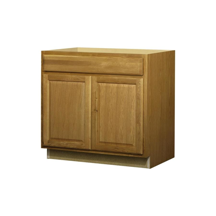 lowes kitchen base cabinets kitchen base cabinets In Stock Finished Cabinetry Promotion At Lowes