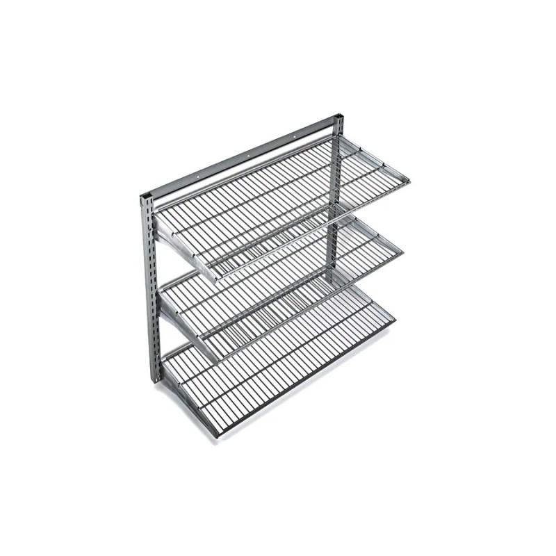 Large Of Metal Wall Storage Shelves