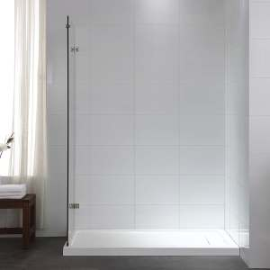 Alluring Ove Decors Sydney H X W Clear Shower Glass Panel Shop Bathtub Shower Door Glass At Photos On Glass Bottles Photos On Glass Art